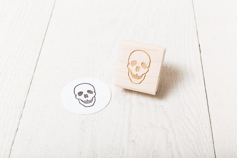 Human Skull  Rubber Stamp  Center Facing image 1