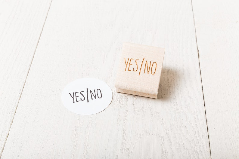 Yes / No Rubber Decision Stamp image 1