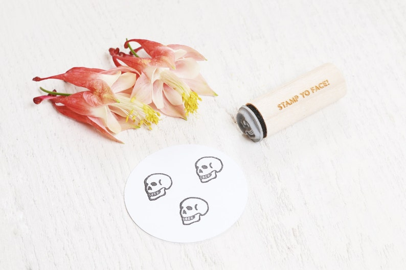 Skull  Mini Rubber Stamp image 1