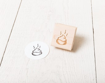 Stinky Poop - Rubber Stamp