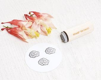 Rose Flower - Mini Rubber Stamp