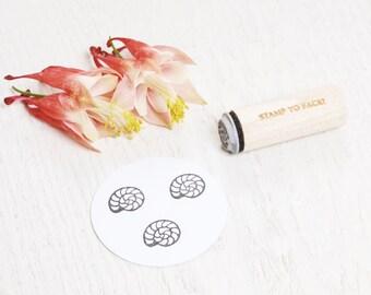 Seashell - Mini Rubber Stamp