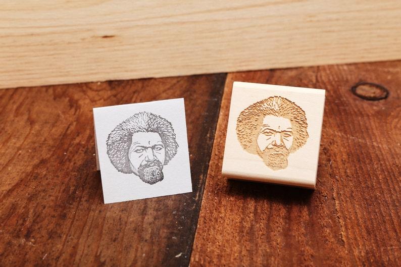 Frederick Douglass  Rubber Stamp Portrait image 0
