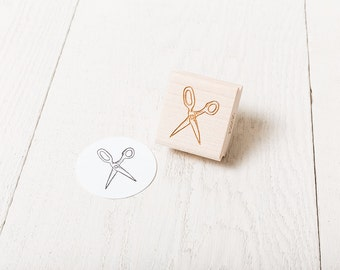 Scissors - Rubber Stamp