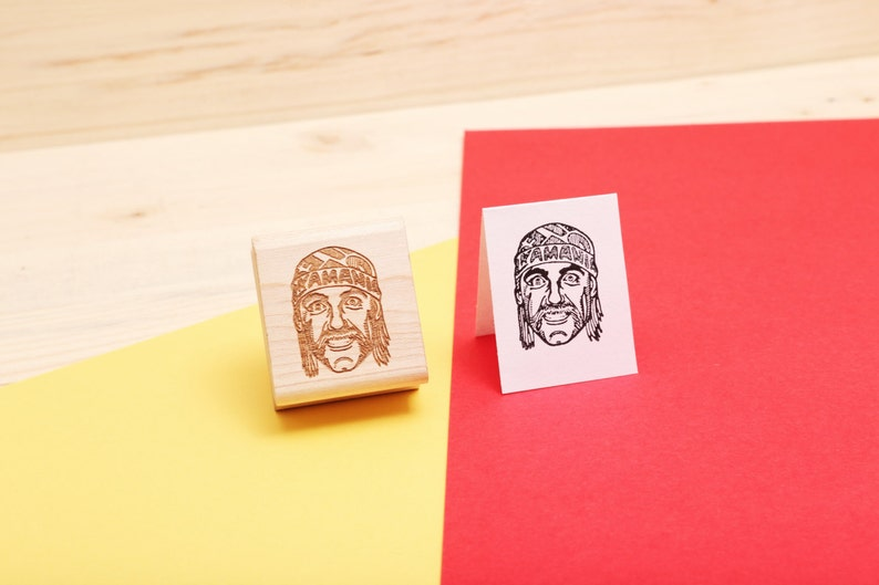 Hulk Hogan  Rubber Stamp Portrait image 1