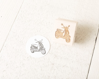 Italian Motor Scooter - Rubber Stamp