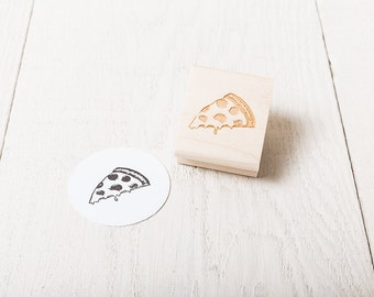 Pizza Slice - Rubber Stamp