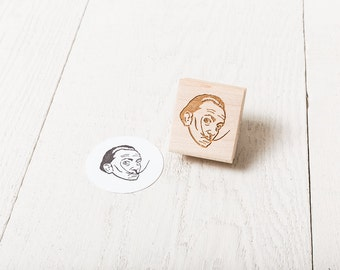 Salvador Dali - Rubber Stamp Portrait