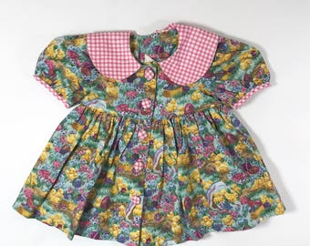 Baby Girl Easter Dress, with Chicks, Size 18 months