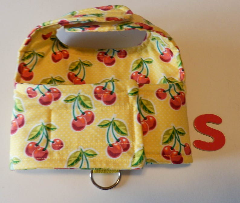 Harness Yellow with Cherries Small Dog