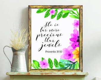 You Are More Precious Than Jewels  // I love you // Kids Room // Nursery Decor