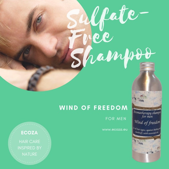"Sulfate-free aromatherapy shampoo against balding and dandruff for men ""Wind of freedom"""