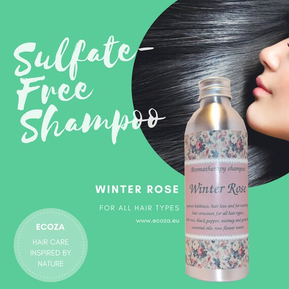 "Sulfate-free aromatherapy shampoo against hair loss and balding ""Winter Rose"""