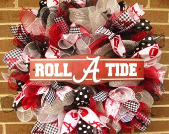 Alabama Wreath Etsy
