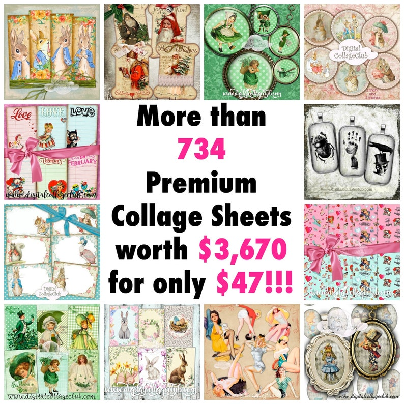 80/% Off Christmas Sale Vintage Retro Christmas Digital Journal Kit Embellishments Images for Scrapbooking Journaling Card Making Decoupage T