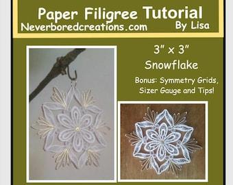 "DIY Quilling: ""Ms Laura"" Snowflake"