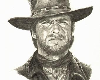 Clint Eastwood Pencil Portrait