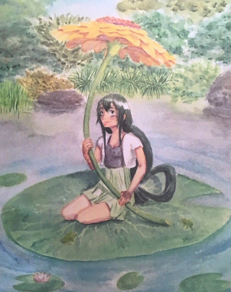 Tsuyu Asui Froppy Watercolor Print