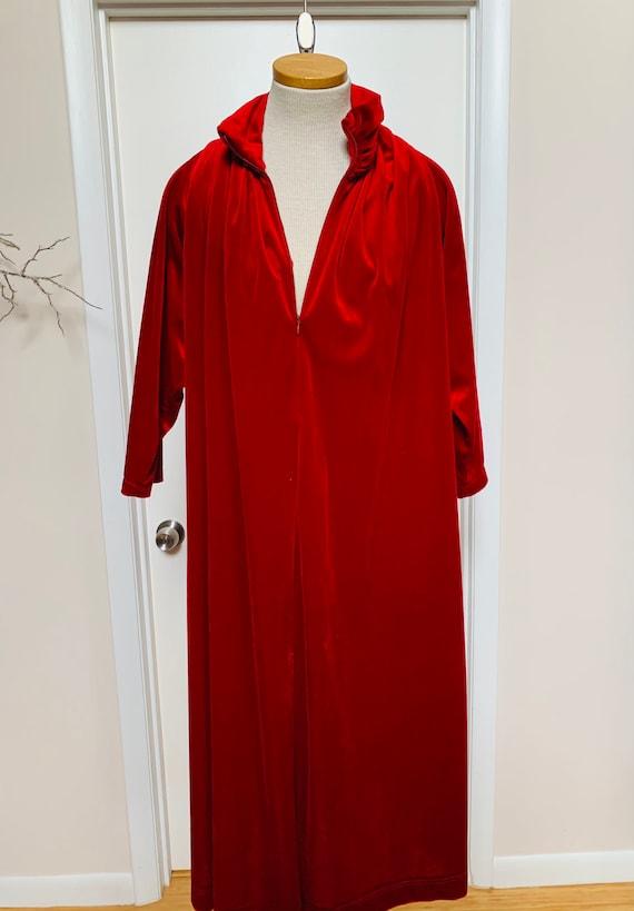 VinTage OSCAR De La RENTA Red VelVet HOUSE coat