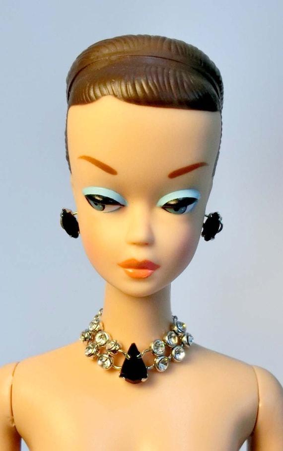 Barbie Doll Repro Vintage FR Handmade Necklace Earrings Jewelry Set NE100089