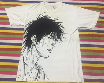 7d6c6e38742e92 Vintage Anime T shirt Cartoon Slam Dunk T Shirt Rokawa Kaede Sakuragi  Hanamichi Japan TV Akira Ghost