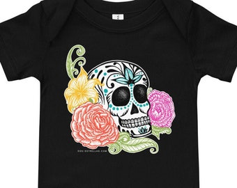 Sugar Skull / Calavera Baby short sleeve one piece