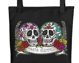HASTA SIEMPRE / Til Forever / Sugar Skull Pair Art Tote bag
