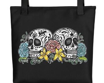 DOS CALAVERAS Sugar Skull Tote bag