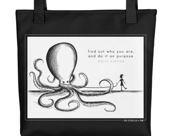 ABBY + SAM (Don't Call Her Samantha!) Octopus + Friend Tote bag