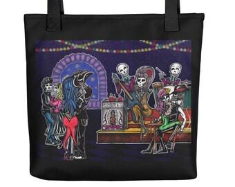 Dead Man's Party / Skeleton Party Art Tote bag