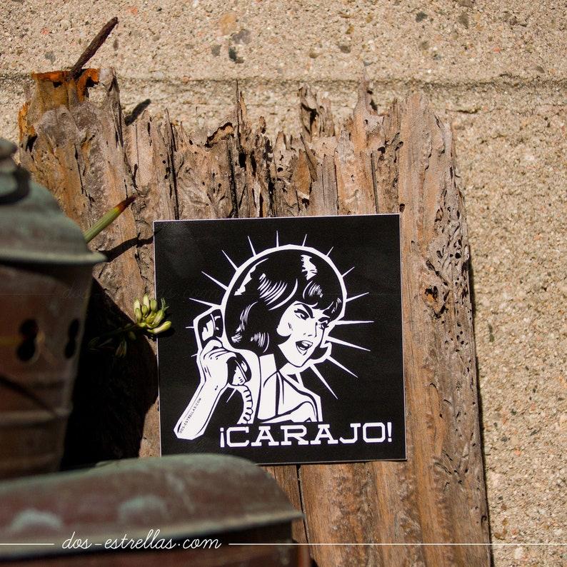 CARAJO Spanish Latinx 3 x 3 Vinyl Square Sticker / image 0