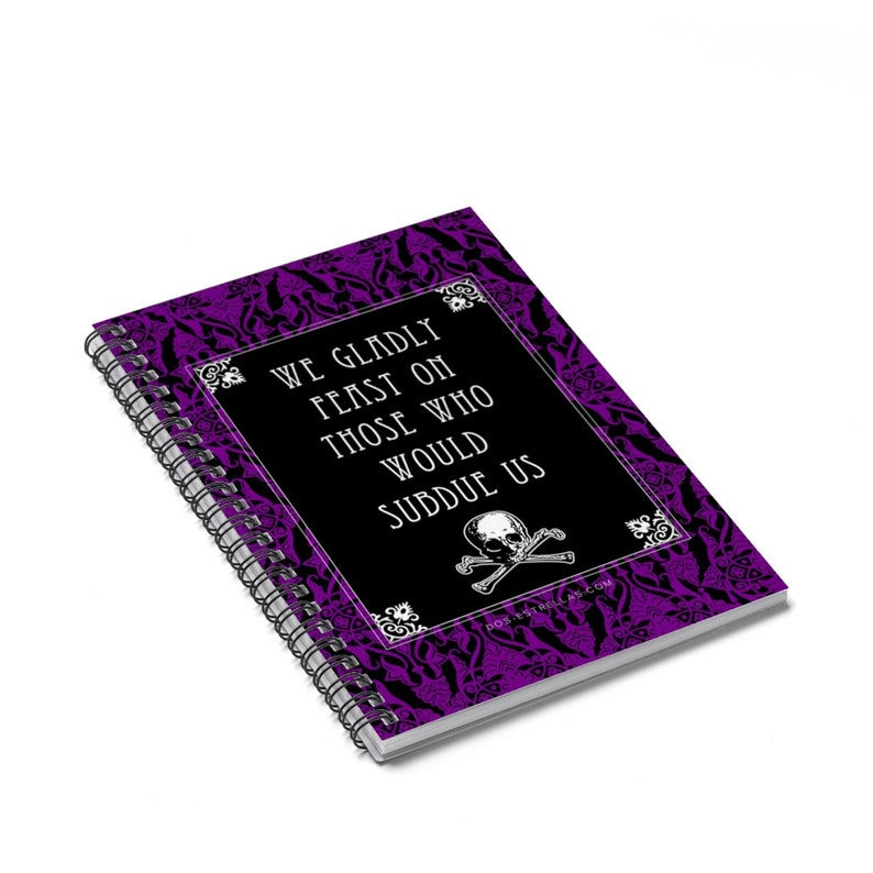 ADDAMS FAMILY Credo / Motto / Skull and Crossbones Lined image 0