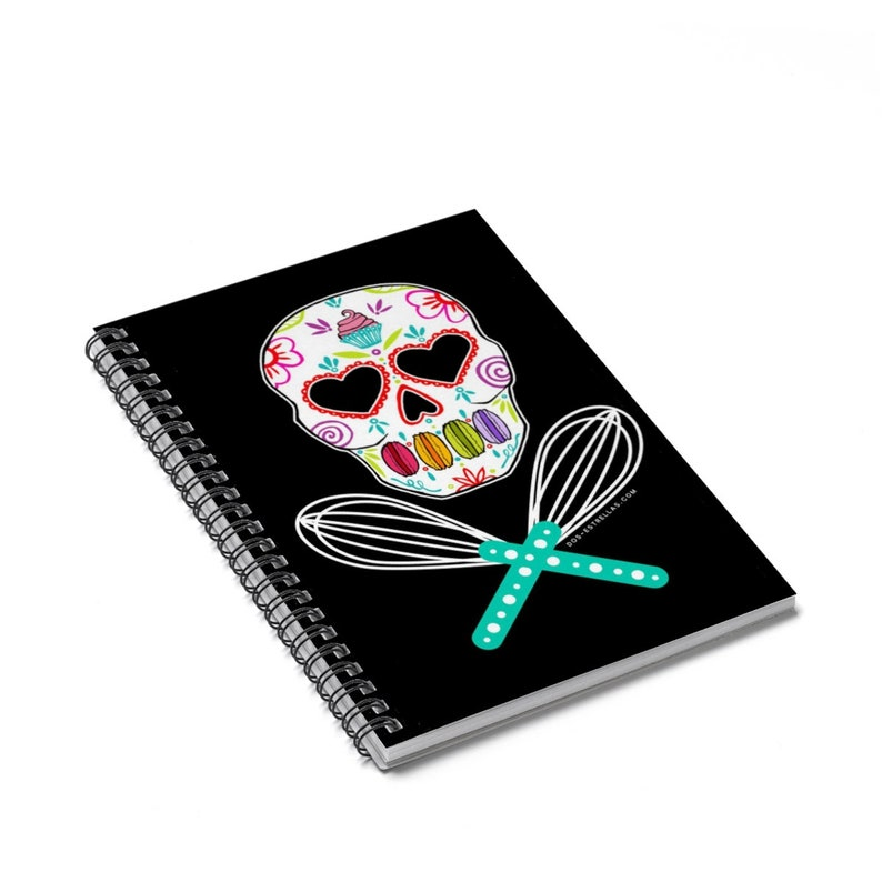 BAKER SKULL Sugar Skull Sweet Spiral Notebook  Ruled Line image 0
