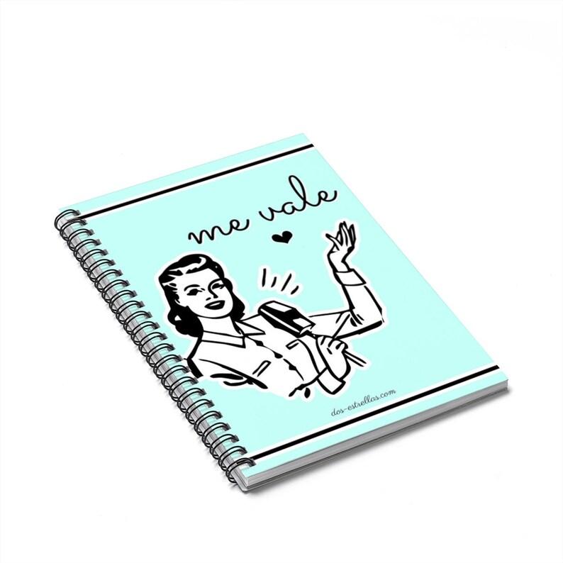 Me Vale / I Don't Care / Retro Art Latinx Spiral Notebook image 0