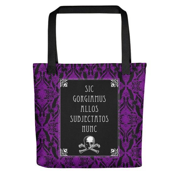 Addams Family Credo  Goth Art Quote Tote bag
