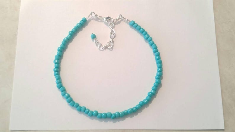Turquoise Silver Necklace Beaded Necklaces Handmade Jewelry Boho Necklace Jewelry Unique Jewelry Necklaces Seed Bead Necklaces Birthday Gift