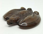 Antique Hand Carved Stone Japanese Netsuke - BAT