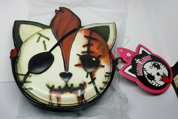 Hangry and Angry Cat Gothic Punk Wallet Coin Purse