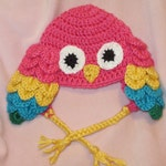 Many colors! Parrot Hat available in newborn through adult sizes