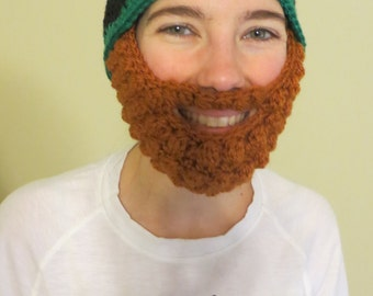 FREE SHIPPING! Leprechaun hat with detachable beard. Toddler-Adult