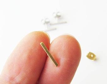 Mini bar stud earrings, Bar earrings, minimalist earrings, Gold bar earrings, Silver bar earrings, Bar stud earrings, Tiny bar earrings