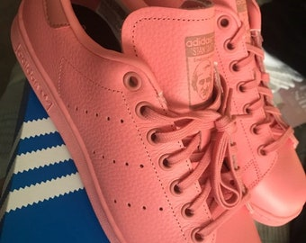 pretty nice dac09 60246 pink stan smith adidas shoes womens 7us