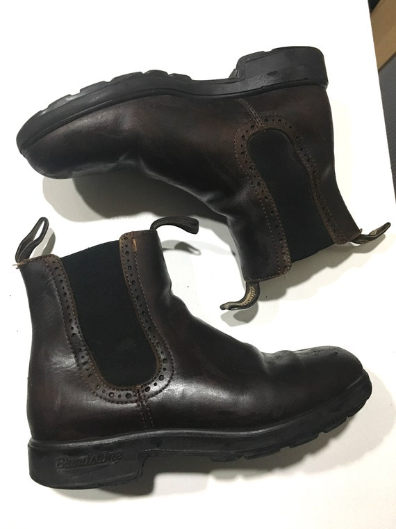 Brown leather blundstone winter boots size 8.5us