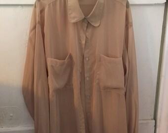 Oversized chiffon blouse
