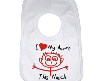 I Love Auntie questo molto-PERSONALIZZATO MANICA LUNGA BABY Gilet Unisex BODYSUITS