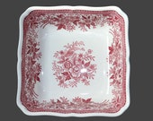 Porcelain Bowl - Square Red and White Serving Platter, VILLEROY BOCH Fasan - Pheasant Pattern