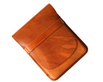 Vintage Genuine Leather Cigar Case, Leather Cigar Holder, Four Cigar Case