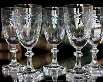 6x Crystal LIQUEUR Glasses - Villeroy & Boch - Miss Desiree - Bar Cart Glasses