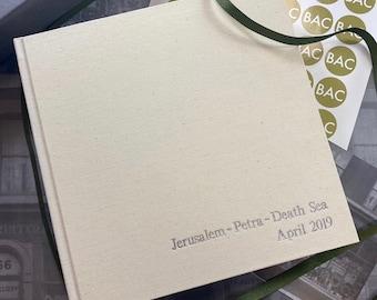 Personalised Ivory Linen Photo Album | 5 Sizes Available