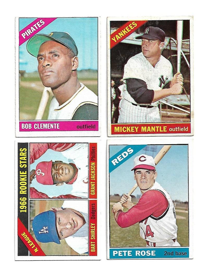 1966 Topps Baseball Complete Set 1 598 Vgvg Ex